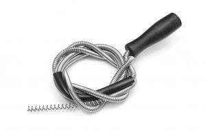 A toilet auger - plumber's snake